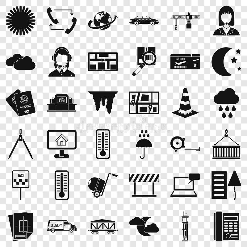 Ensemble professionnel d'icônes d'expéditeur, style simple illustration stock