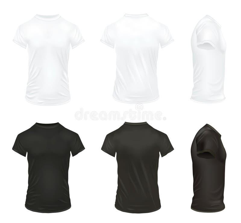 Ensemble réaliste d'icône de T-shirt illustration stock