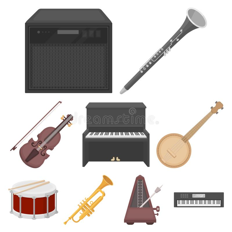 ensemble relatif musical d'icône illustration stock