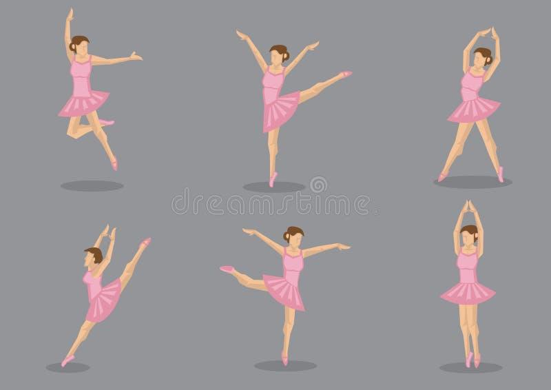 Ensemble rose d'icône de vecteur de ballerine de tutu illustration de vecteur