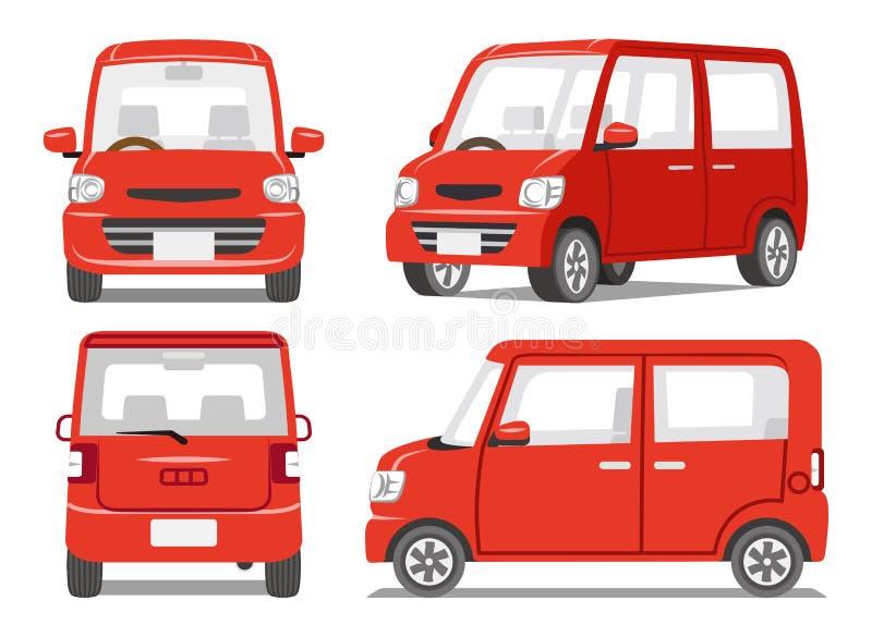 ensemble rouge d 39 angle de la voiture quatre illustration de vecteur illustration du avant. Black Bedroom Furniture Sets. Home Design Ideas