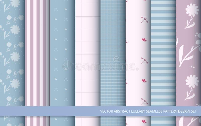 Ensemble sans couture de conception de modèle de berceuse abstraite de vecteur illustration stock
