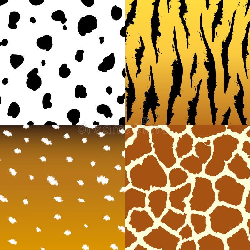 Ensemble sans couture de tissu de texture de peau d'animal illustration libre de droits