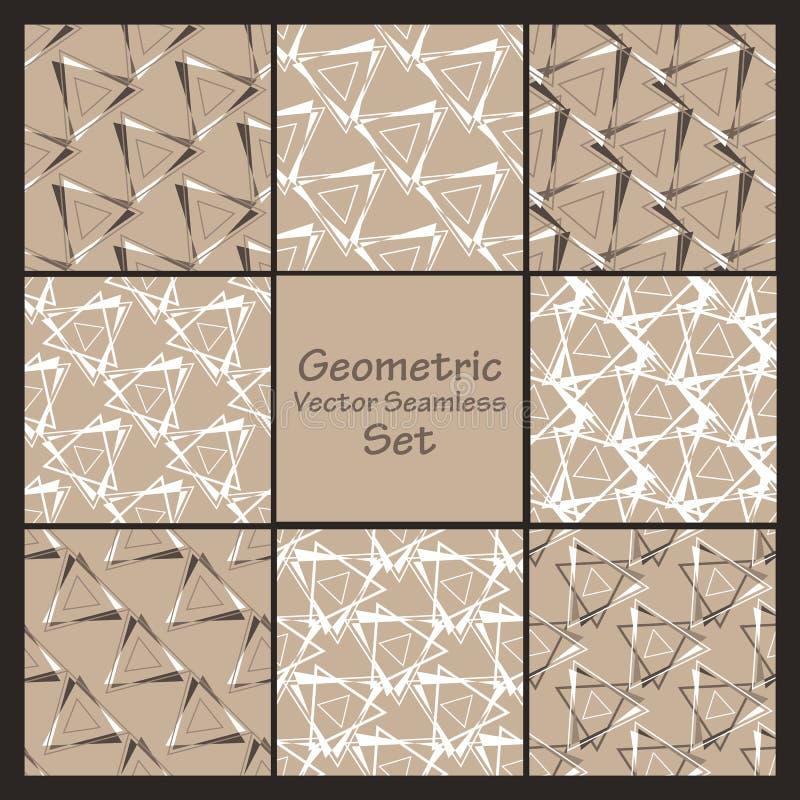 Ensemble sans couture géométrique de vecteur illustration stock