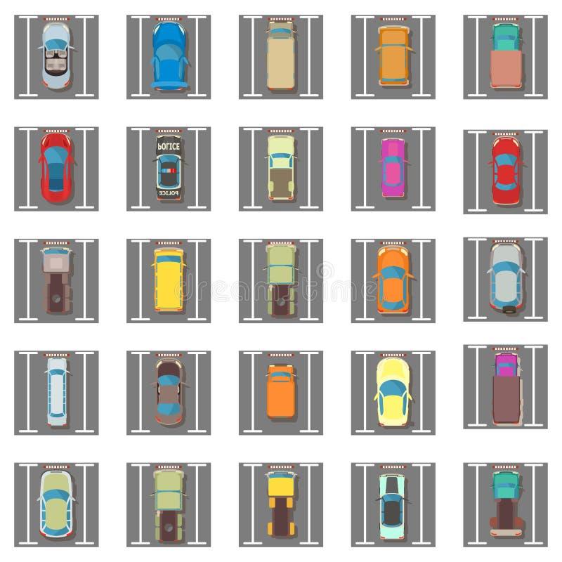 Ensemble se garant d'icônes, style isométrique illustration stock