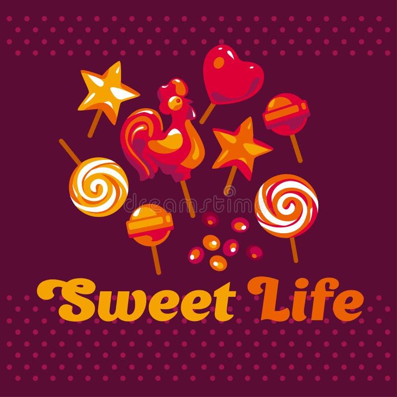 Ensemble simple assorti de sucrerie illustration libre de droits