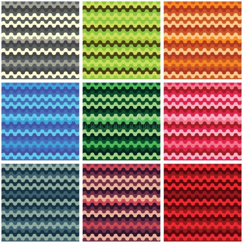 Ensemble simple de vague abstraite de texture illustration stock