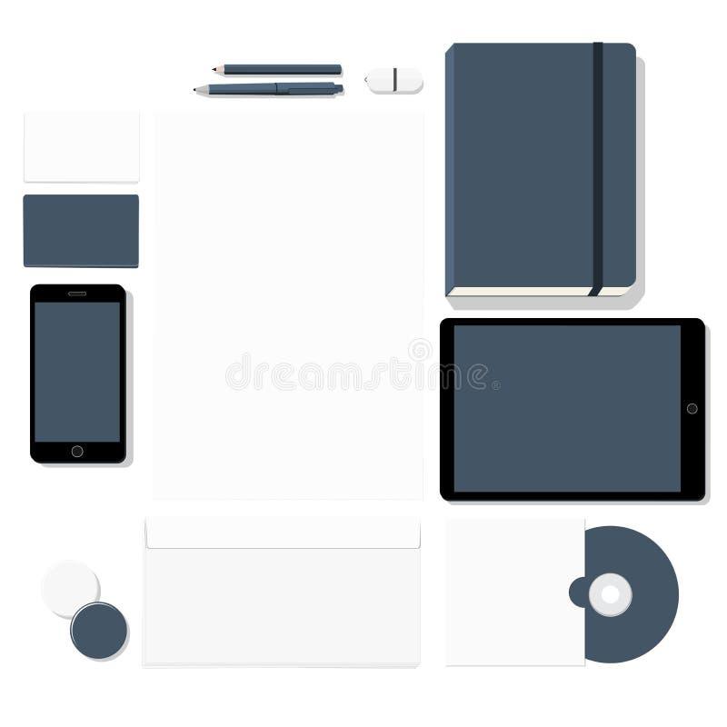 Ensemble stationnaire vide illustration stock