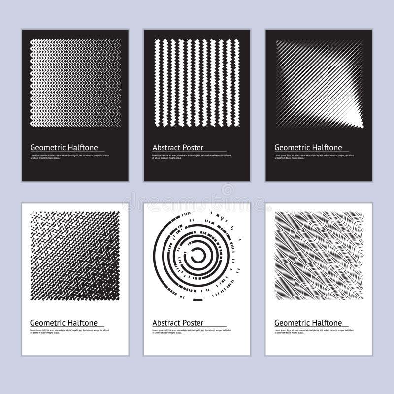 Ensemble tramé abstrait moderne de conception d'affiche Vecteur illustration libre de droits