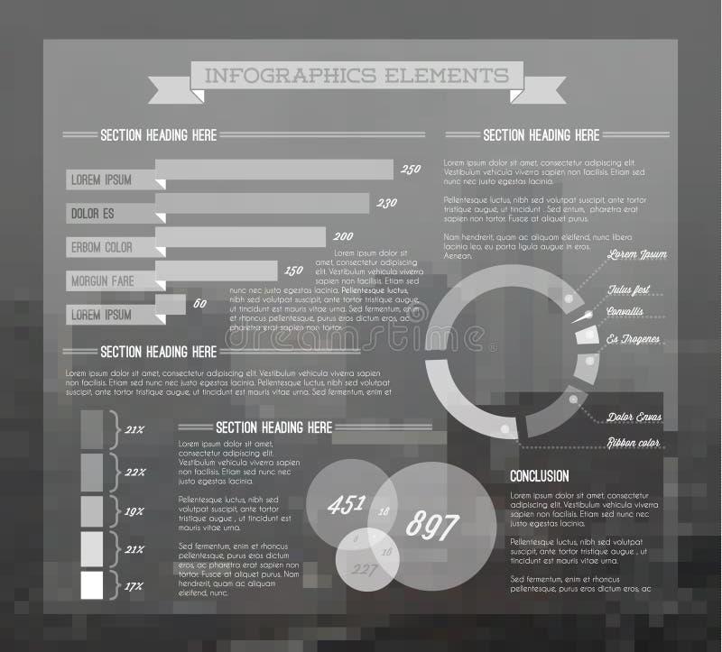 Ensemble transparent de vecteur d'éléments d'Infographic illustration de vecteur