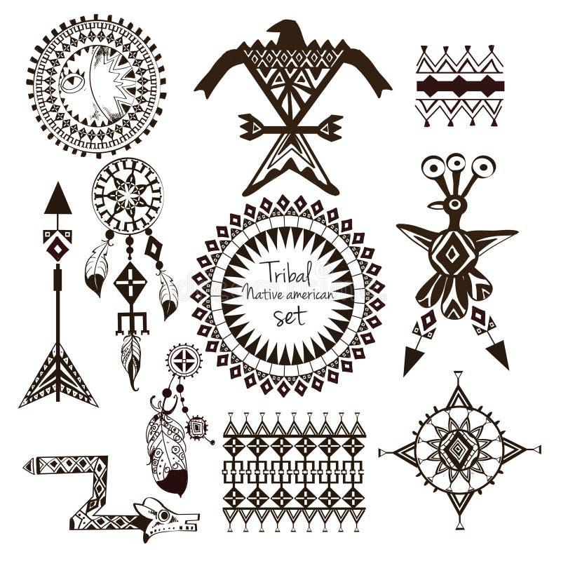 Ensemble tribal de natif américain illustration stock