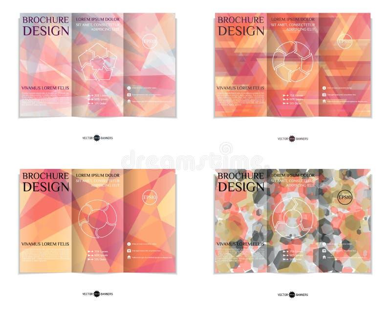 Ensemble triple de calibre de conception de brochure illustration libre de droits