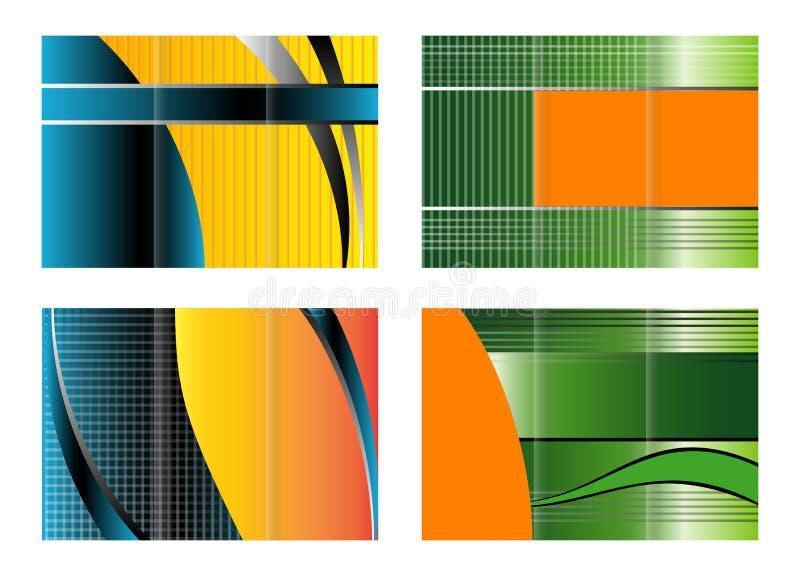 Ensemble triple de conception de brochure illustration de vecteur