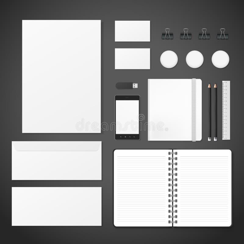 Ensemble vide de papeterie d'identité d'entreprise illustration libre de droits