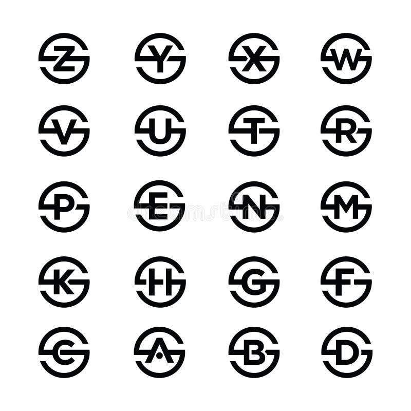 Ensembles d'icône de combinaison d'alphabet de la lettre S illustration libre de droits
