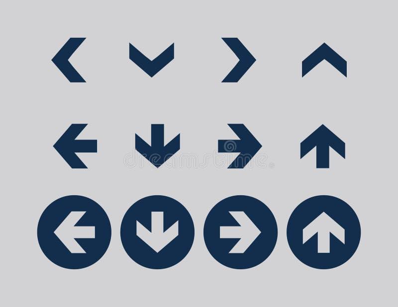 Ensembles d'icône de flèche photo libre de droits