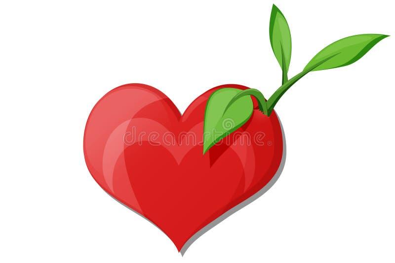 Ensemencement de la graine de l'amour illustration libre de droits