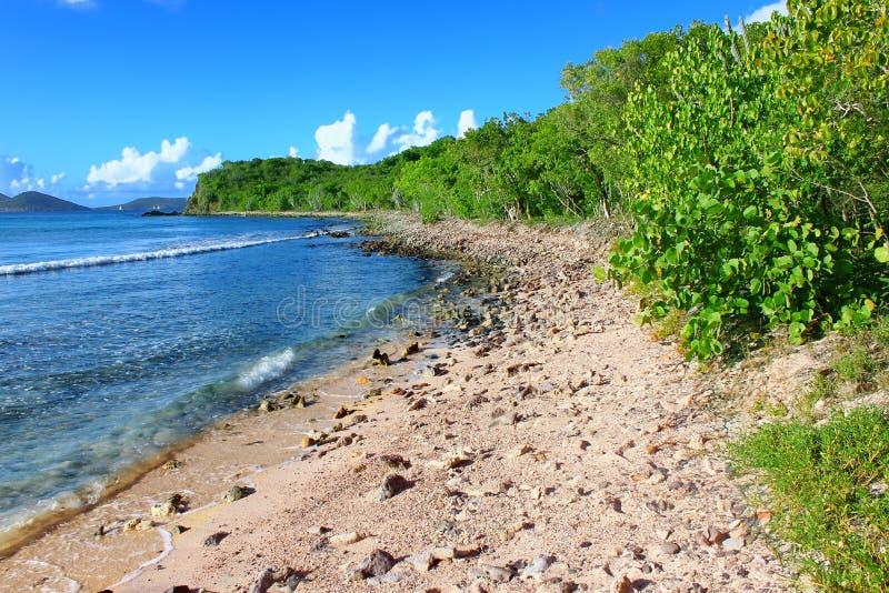 Ensenada British Virgin Islands de los contrabandistas foto de archivo