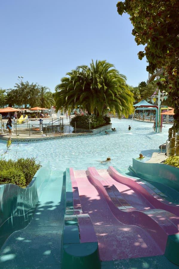 Ensenada de Katas Kookaburra del parque del agua de Aquatica fotos de archivo libres de regalías