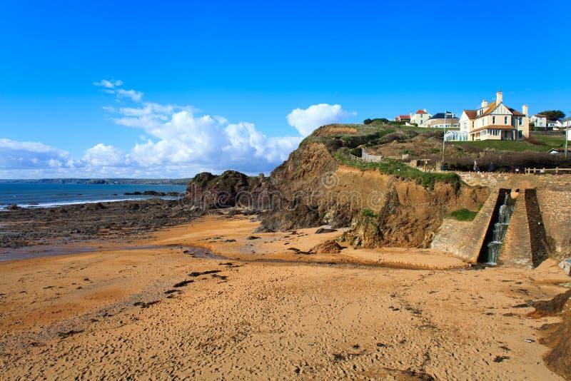 Ensenada de la esperanza, jamones del sur, Devon Reino Unido imagen de archivo