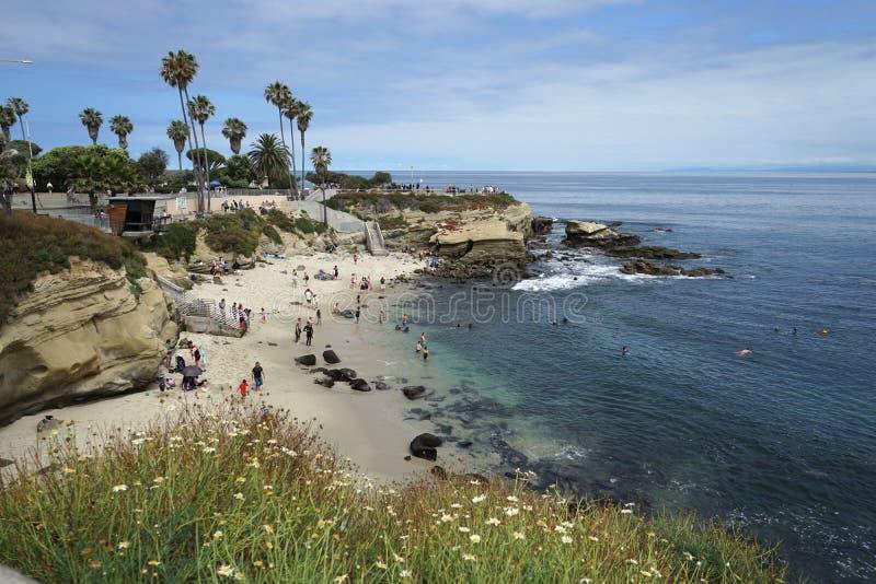 Ensenada de La Jolla en California foto de archivo libre de regalías