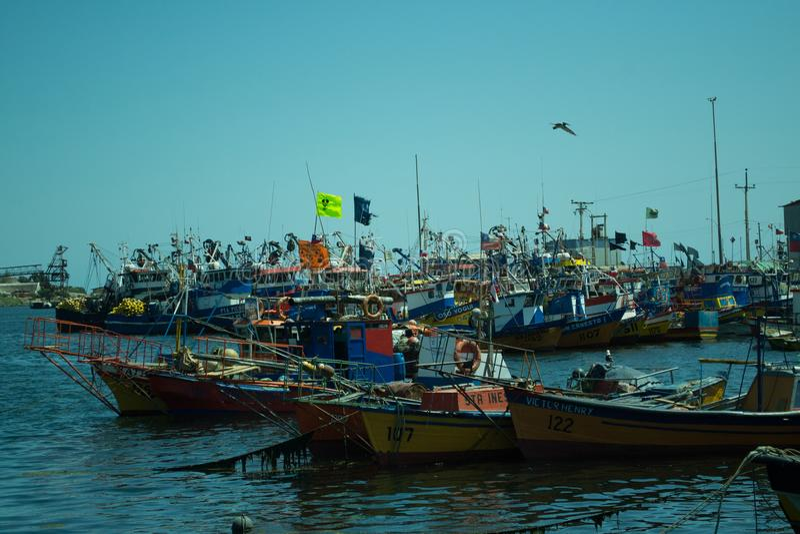 Ensenada de la pesca en Chile fotos de archivo libres de regalías