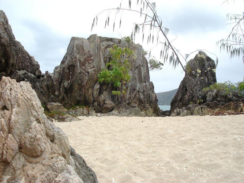 Ensenada de la playa fotografía de archivo