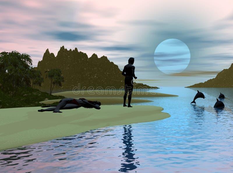 Ensenada del delfín libre illustration