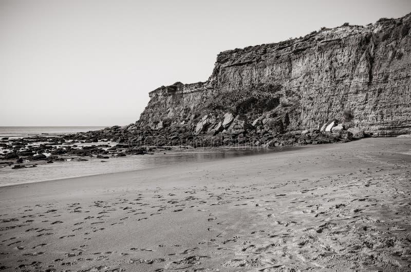 Ensenada en el pueblo del la Frontera, Cádiz, España de Conil de fotografía de archivo libre de regalías