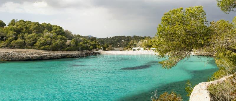 ensenada esmeralda en Mallorca fotos de archivo libres de regalías