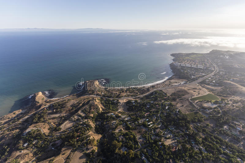 Ensenada Rancho aéreo Palos Verdes California del olmo imagenes de archivo