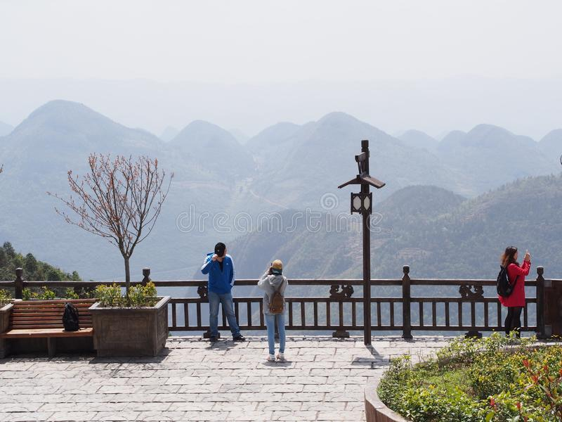 Enshi Kina Grand Canyon Lopp i Hubei, Enshi stad, Kina in royaltyfri bild