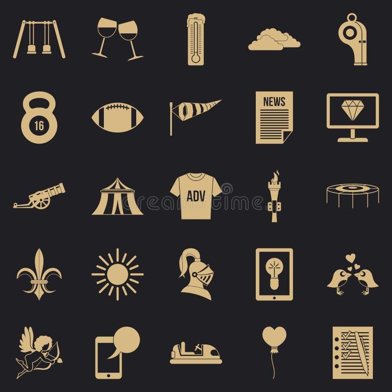 Ensign εικονίδια καθορισμένα, απλό ύφος διανυσματική απεικόνιση