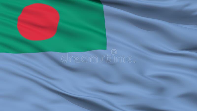 Ensign взгляда крупного плана флага службы береговой охраны Бангладеша бесплатная иллюстрация