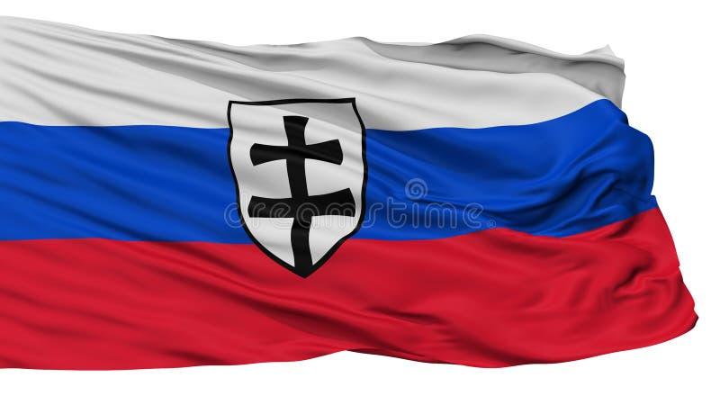 Ensign войны первого флага республики словака, изолированный на белизне иллюстрация штока