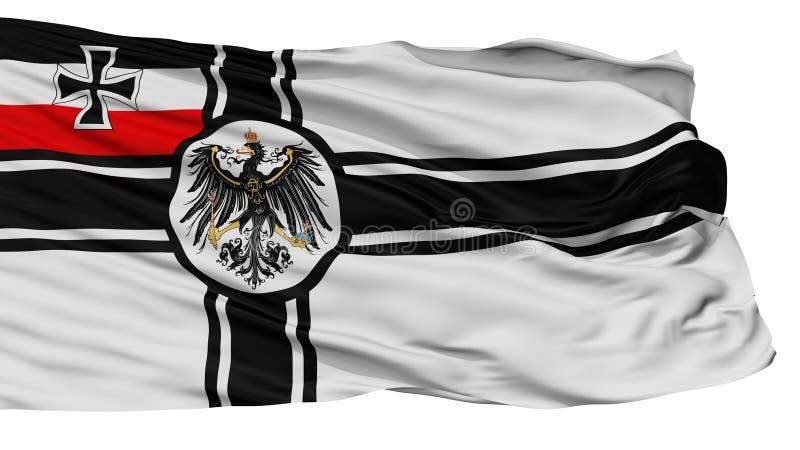 Ensign войны флага 1918 Германии 1903, изолированный на белизне иллюстрация штока