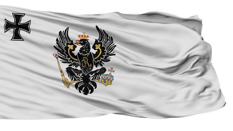 Ensign войны флага Пруссии 1816, изолированный на белизне иллюстрация штока