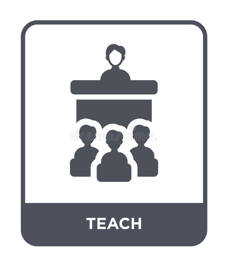 ensine o ícone no estilo na moda do projeto Ensine o ícone isolado no fundo branco ensine o símbolo liso simples e moderno do íco ilustração do vetor