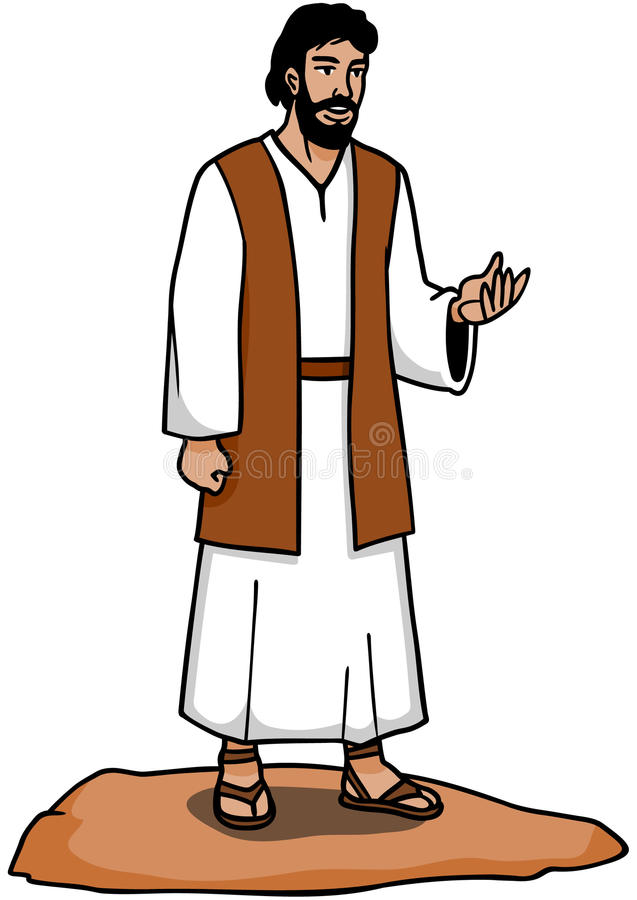 Ensino de Jesus ilustração do vetor