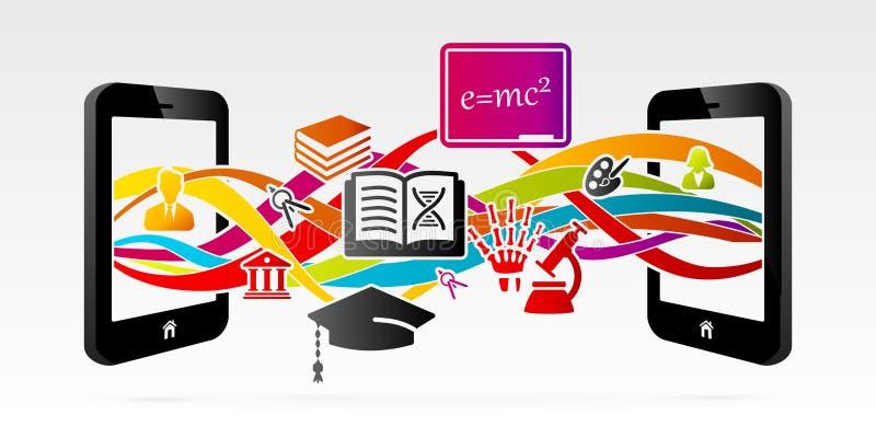 Ensino electrónico ilustração royalty free