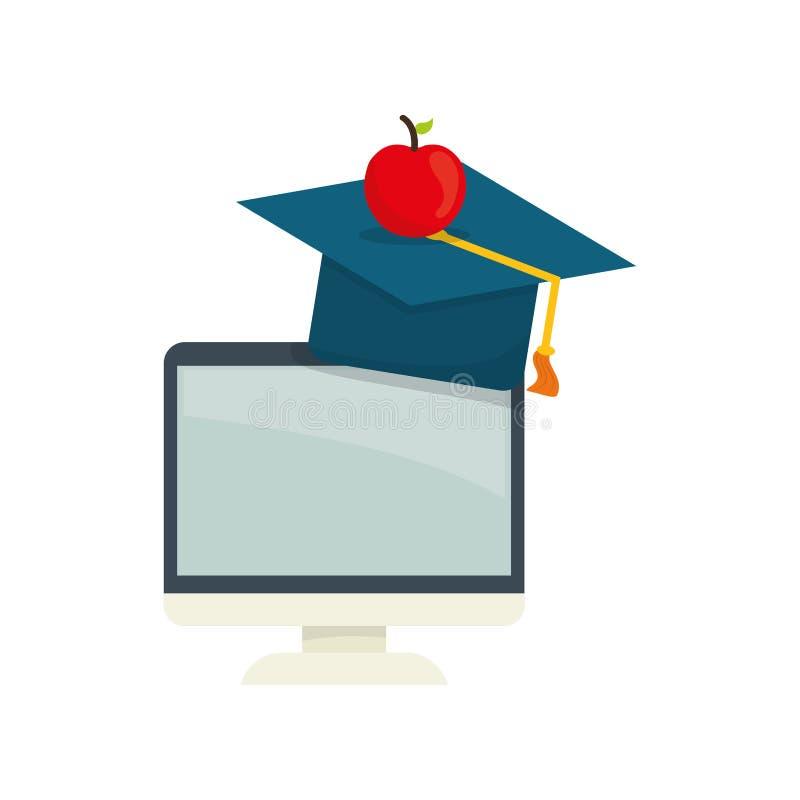 Ensino eletrónico em linha da educação ilustração royalty free