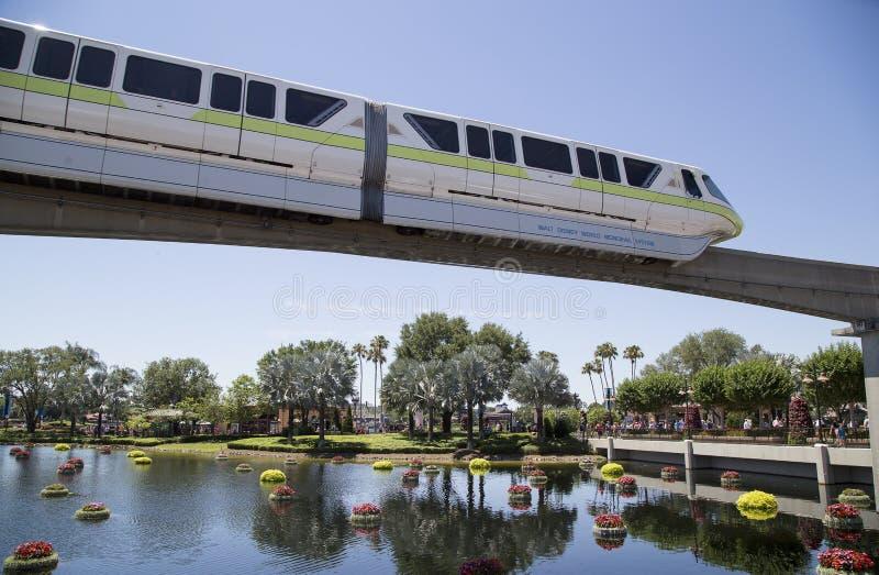 Enskenig järnväg på EPCOT-mitten, Disney värld, Florida arkivbild