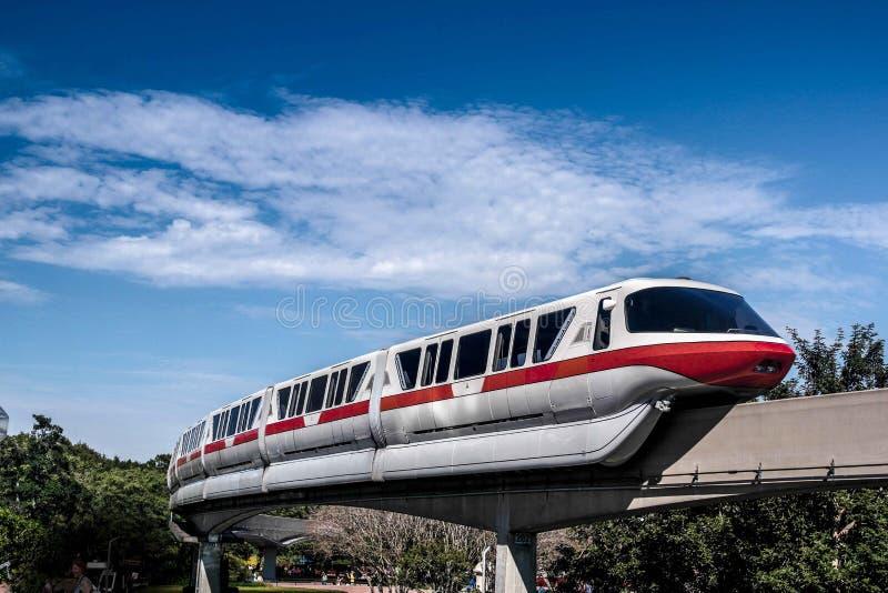 Enskenig järnvägdrev på Walt Disney World royaltyfri fotografi