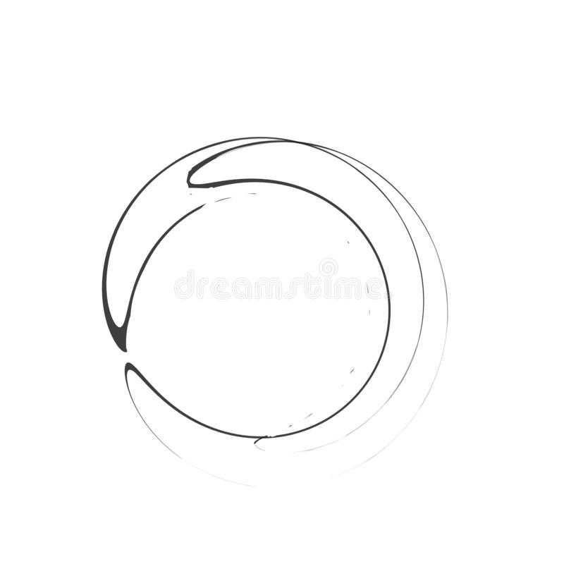 Enso symbol ilustracja wektor