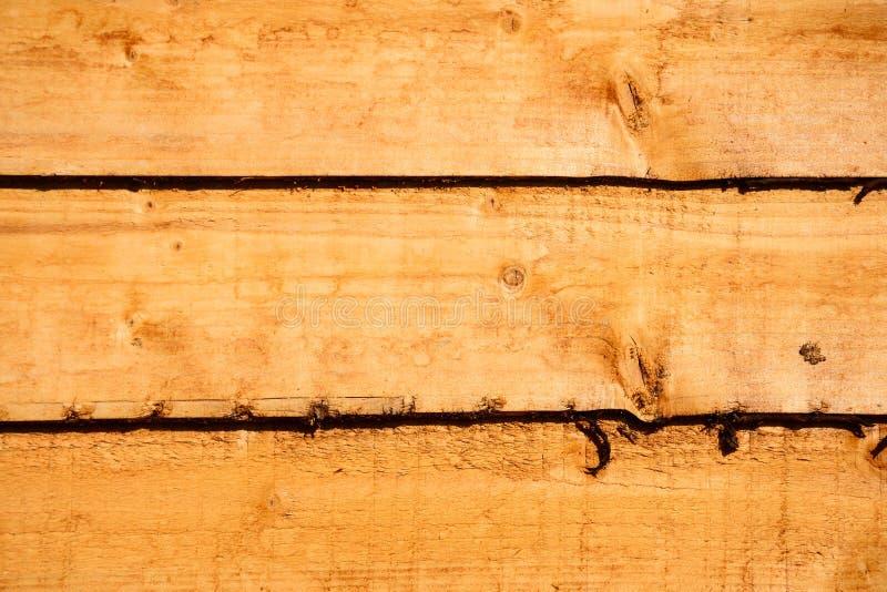 Wooden fence panel. Horizontal fence panel background with three slats stock photography