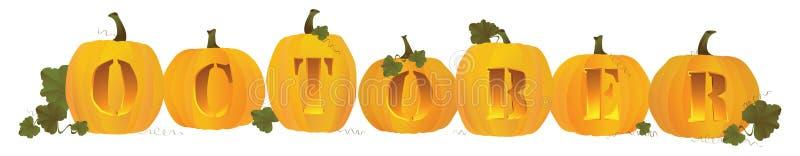 Entête d'octobre illustration stock