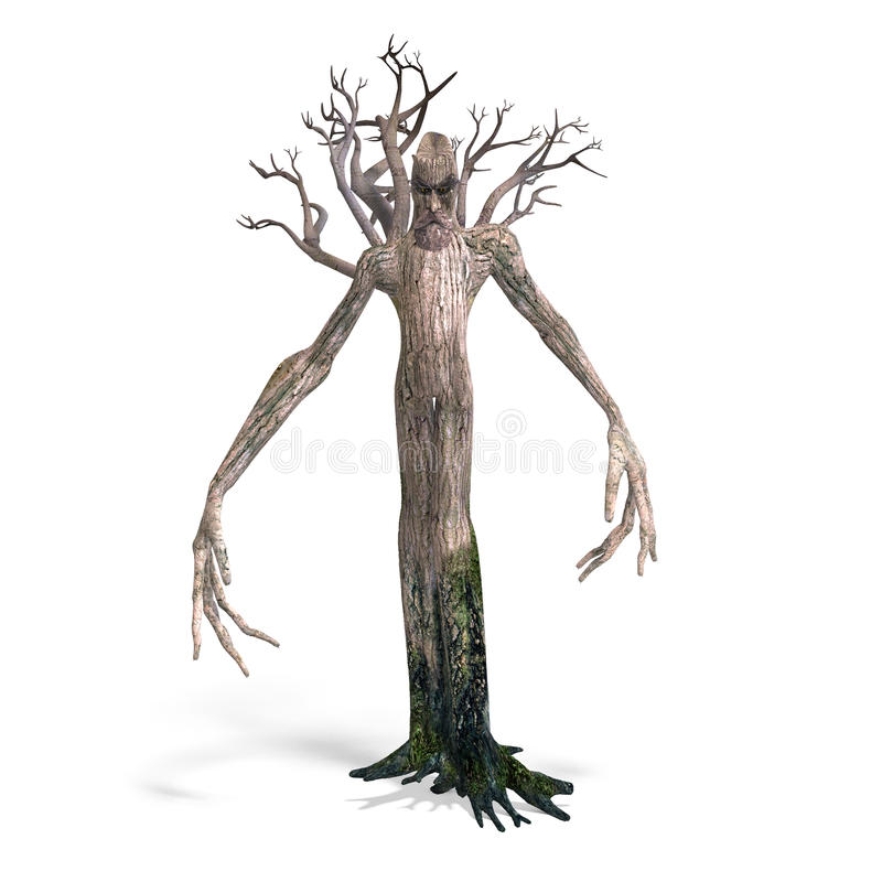 The Ent - Keeper of the forest stock illustration