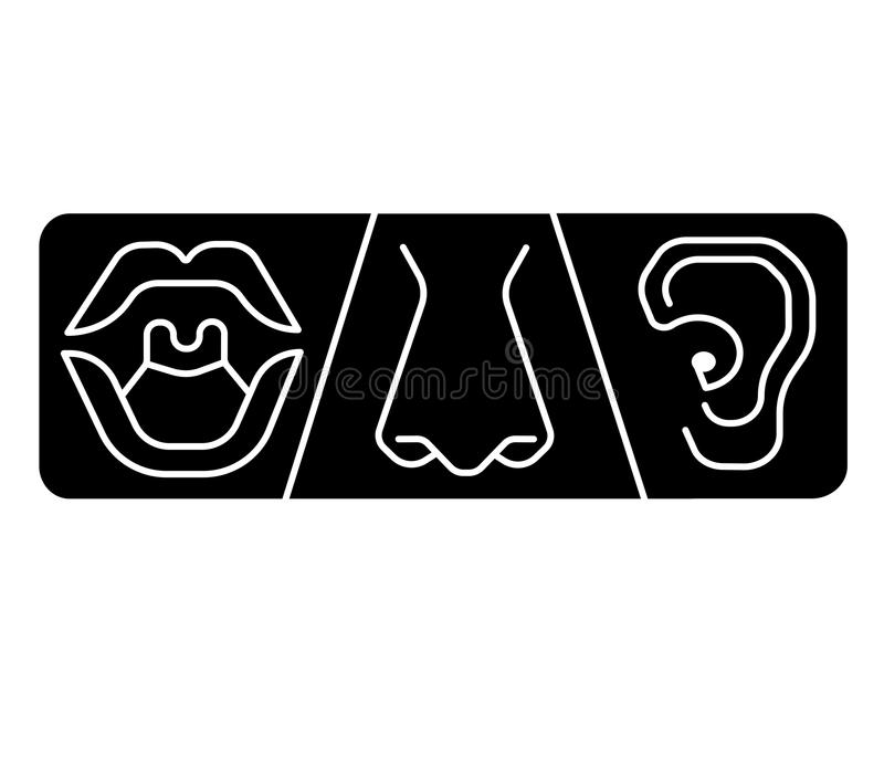 ENT Logo Template Clinic.Otolaryngology Ear, Nose, Throat Doctor ...