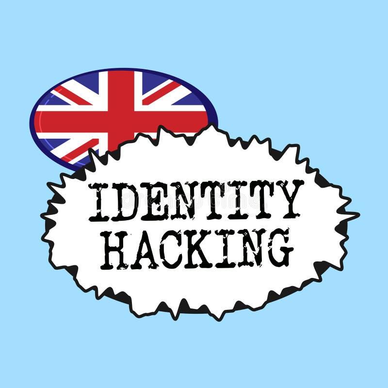 Entailler d'identité des textes d'écriture de Word Concept d'affaires pour le criminel qui volent votre information personnelle u illustration libre de droits