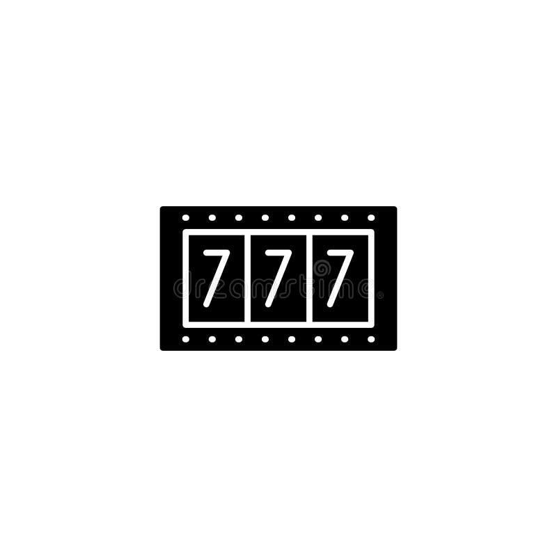 Entalha o conceito preto do ícone do jogo Entalha o símbolo liso do vetor do jogo, sinal, ilustração ilustração stock